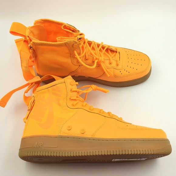 Nike Other - Nike Orange Laser OBJ SF Air Force 1 Mid G0811659